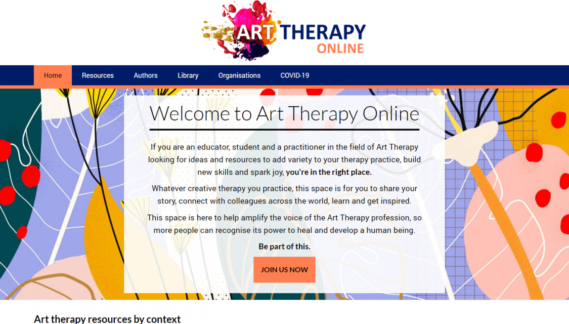 Art Therapy Online website homepage