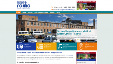 Epsom Hospital Radio website homepage