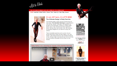 Lotte Berk website design
