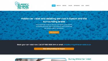 Surrey Shine Car Valet website design