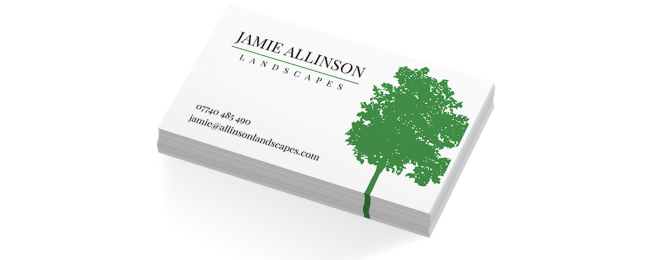 Landscape gardener business cards